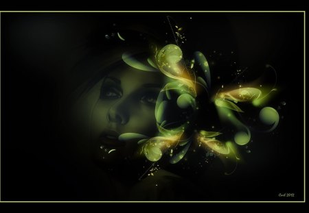 A beautiful woman is a gift from heaven - heaven, woman, sky, girl, art