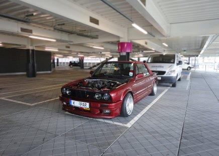 No Bonnet E30 PAR - e30 calypso red, e30 325, calypso red, calypso red e30, e30, e30 bonnet, borbet b e30, e30 splitter, e30 bbs, e30 lip, mean e30