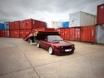Calypso Red BMW E30 Wallpaper PAR