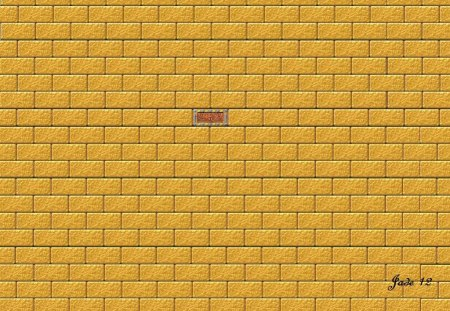 wall - bricks, wall, 22657, gold