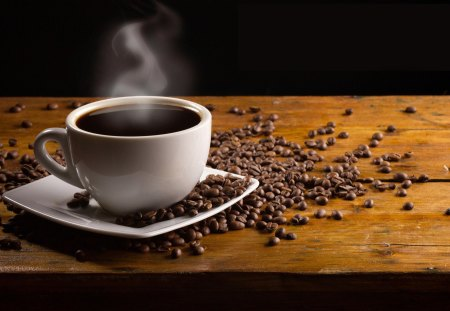 Coffee Time - beans, coffee time, cup, coffee