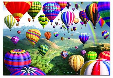 AIR BALLOONS - balloons, puzzles, ravenburgh, air, hot
