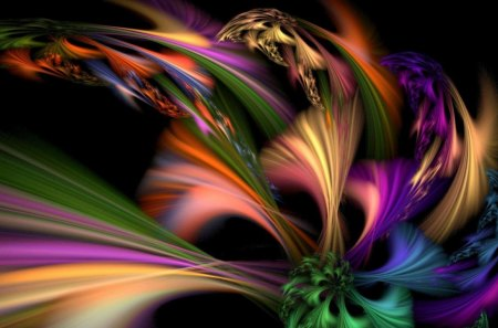 DANCE OF SALOME - fantasy, colours, scarves, spinning, rainbows, twirls