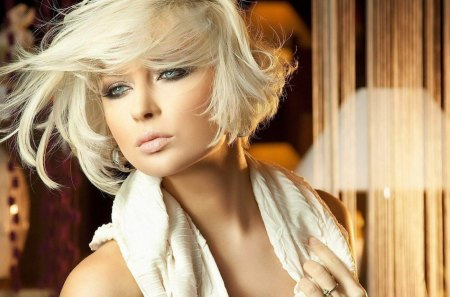 Sensual woman - hot, blonde, cute, elegant, model, woman, sad, sensual, lady