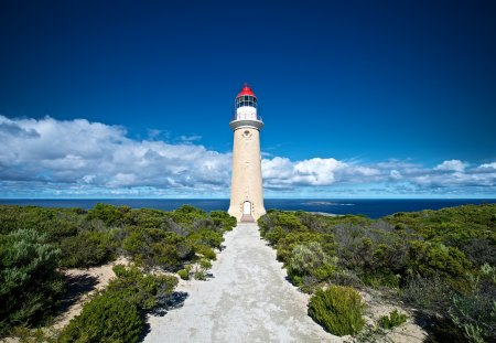 Kangaroo Island Lighthouse - island, kangaroo, lighthouse, light