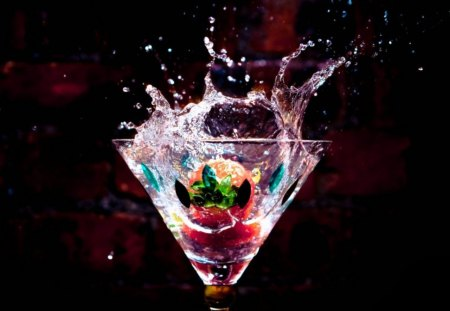 * Splash * - splash, cocktail, fruit, glass, water