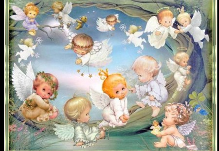 * Angels * - god, lord, smile, angels, cute, love