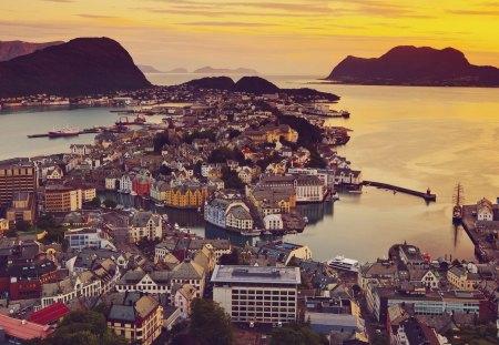Alesund - Norway - alesund, europe, scandinavia, norway
