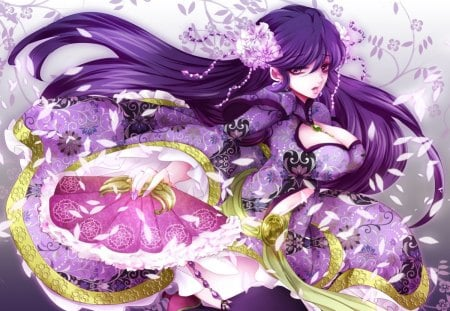 Gilr with purple hair with big boobs Happyko Love Other Anime Background Wallpapers On Desktop Nexus Image 1185481
