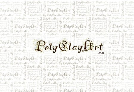 Poly Clay Art - logo, white, clay, poly, art