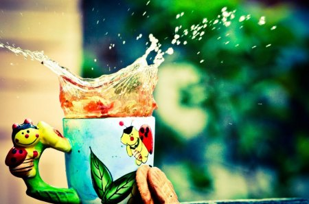 Splash - colorful, photography, abstract, tea, spill, beautiful, splash, spigot, faucet