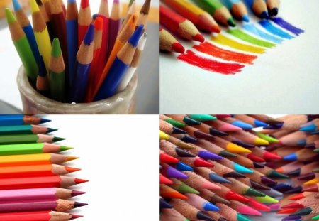 Color Pencils 1 - drawing, abstract, collages, colors