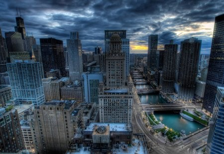 Cityscapes Chicago HDR - chicago, hdr, city, town