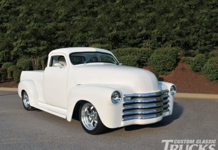 """The Old White Work Truck"" - classic, bowtie, white, truck"
