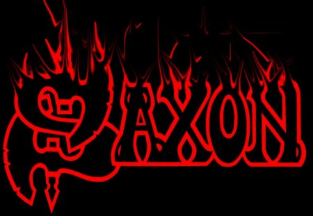 Saxon - logo, saxon, heavy, music, band, metal, black, red