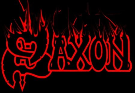 Saxon - band, metal, music, black, red, heavy, logo, saxon