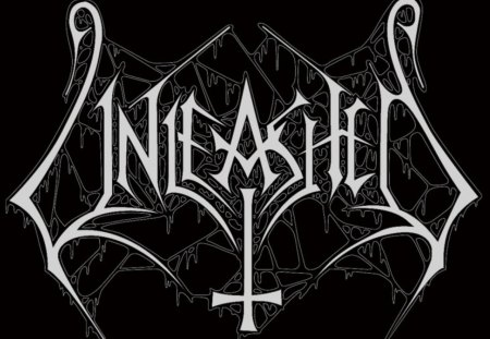 Unleashed - logo, white, music, sweden, heavy, band, metal, unleashed, swedish, black