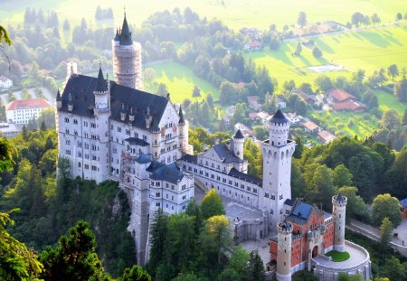 Deutschland - architecture, buildings, deutschland, castle, scenery, luxury