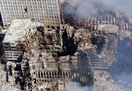 To Never Forgetting - cityscapes, new york, destruction, burning