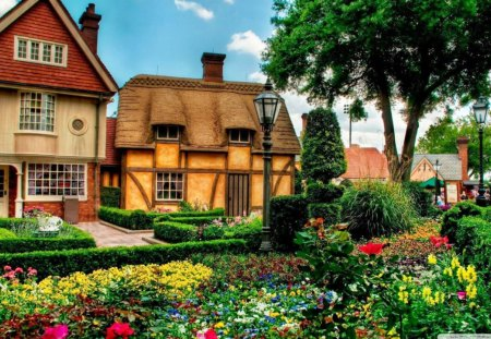 Beautiful Garden Houses Architecture Background Wallpapers On