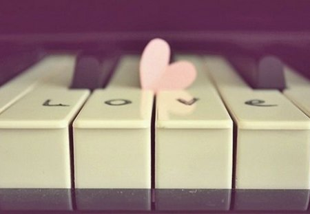 Sweet melody - melody, piano, heart, sweet, love