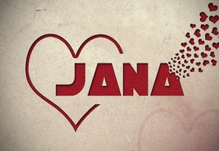 Jana - red, love, heart, jan