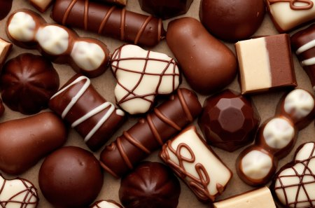 Chocolately Delicious - sweet, desert, food, brown, candy, chocolate, white