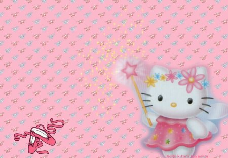 HELLO KITTY BALLET - children, kitty, princess, pink, slippers, shoes, magic wand, cartoons, kids