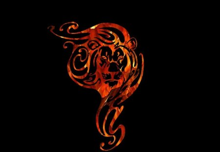 Fire Lion Fantasy Abstract Background Wallpapers On Desktop