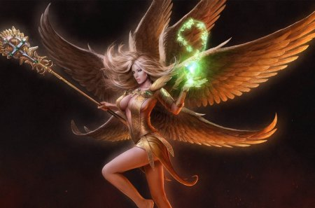 Angel - cg, fantasy, magic, angel