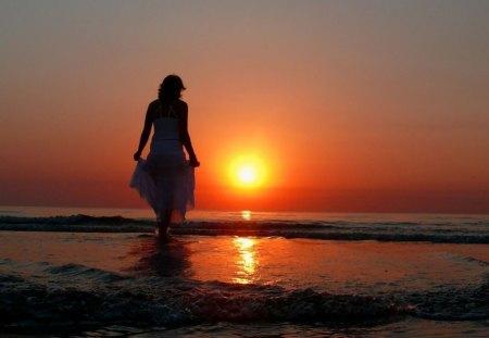 SUNSET STROLL - Beaches & Nature Background Wallpapers on Desktop ...