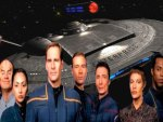 Star Trek Enterprise with Crew