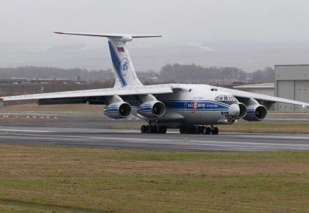 Illyushin Il 76 Commercial Aircraft Background