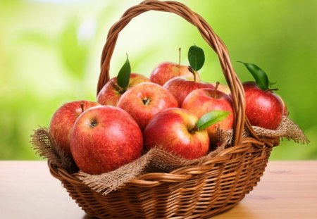 * Basket of fresh apples * - fresh, apples, fruit, basket, tasty