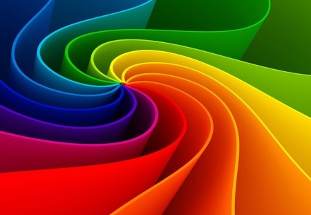 Abstraction - colorful, color, rainbow, abstract