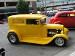 1929 ford delivery yellow