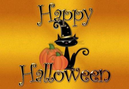 halloween - hat, october, pumpkin, halloween