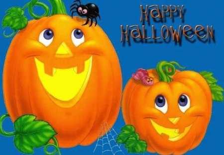 CUTE PUMPKINS - flag, orange, halloween, pumpkins, cute