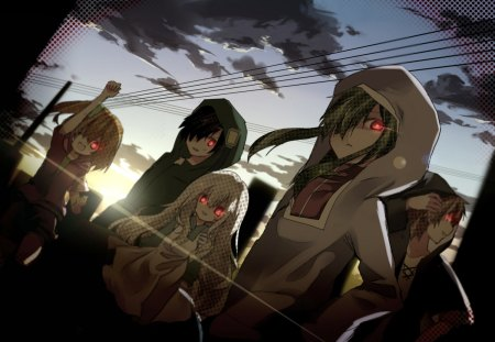 Kagerou Squad - squad, kagerou, volc, anime, dark, new, wall