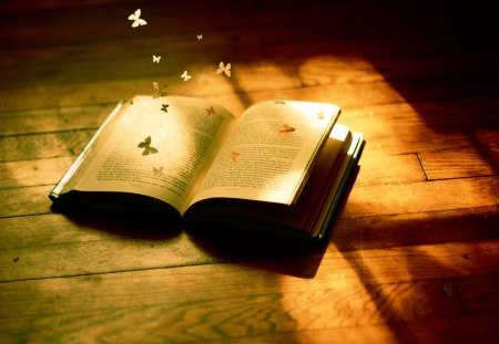 * Magic book * - believe, surprise, magic, fantasy, book, fairy tale, story, page, butterfly