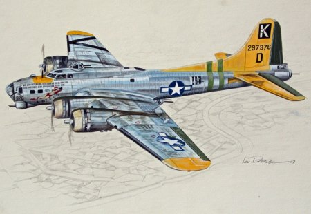 B17 Flying Fortress  B17 Bomber Drawing