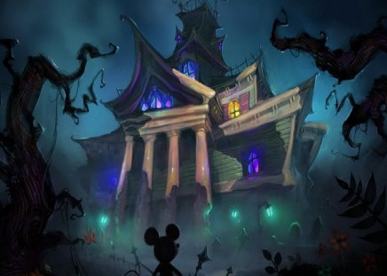 Haunted Mansion Desktop Wallpaper Mickey And The Haunted Mansion