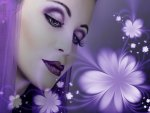 Lady in Purple Abstract