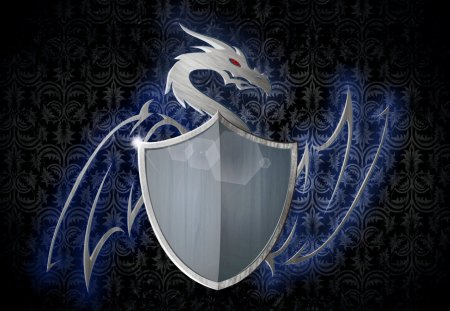 heraldry - grunge, heraldry, shield, victorian background, dragon