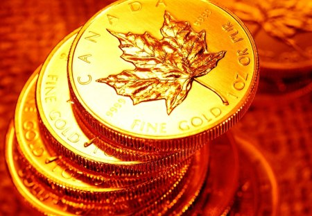 Gold Coins - wonderful, canada, great, skyphoenixx1, abstract, gold, amazing, cins, awesome, gold coins, outstanding, adorable, stunning, nice, fantastic, marvellous, wallpaper, beautiful, treasure, pretty, money, super, picture, photo
