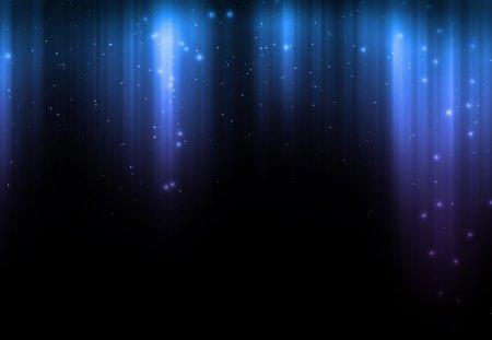 Celestial Rain Blue Lavender - blue, sky, shine, lavender, abstract, dark, glow, stars, sprinkle, sparkle, rain