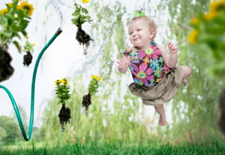 Levitation-Baby - nice, baby, photo, cute