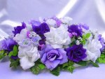 Purple and White Floral Perfection