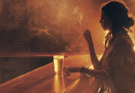 smokin.. - female, smoking, smoke, cigarrette, women