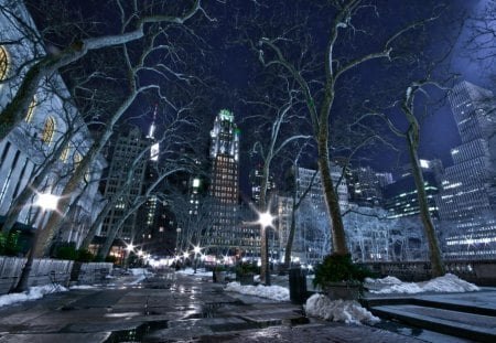 New York on a Winter Night